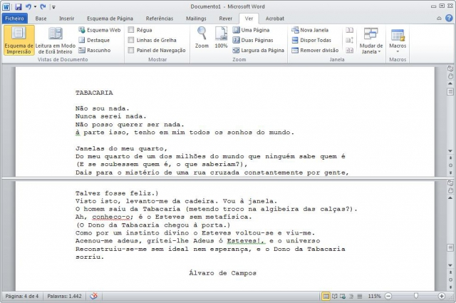 Unicenter - Dicas MS Word - Dupla Janela