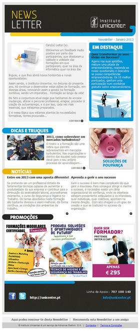 Unicenter - Newsleter Abril 2013